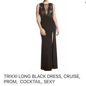 TRIXXI LONG BLACK DRESS, CRUISE, PROM WEDDING